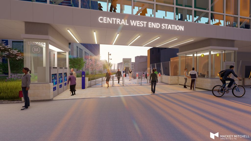 Central West End Station Construction rendering