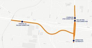 Map of Lyft program corridor near Pershall Road