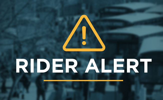 Graphic with the text Rider Alert.