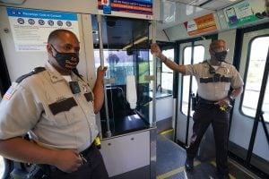 Deputy Sheriffs Patrol MetroLink Trains