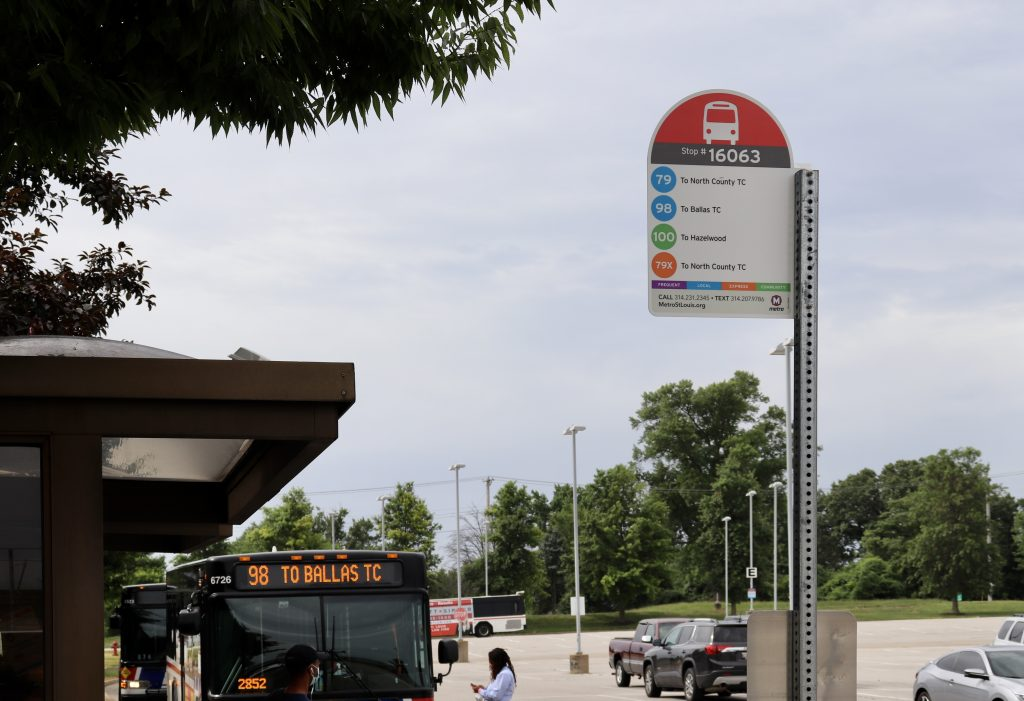 Image of new bus stop signs