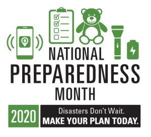 Logo for National Preparedness Month - September 2020
