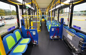 Interior of the new 60-foot battery electric bus coming to Metro Transit