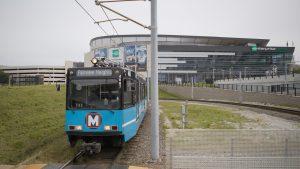 MetroLink train at Civic Center