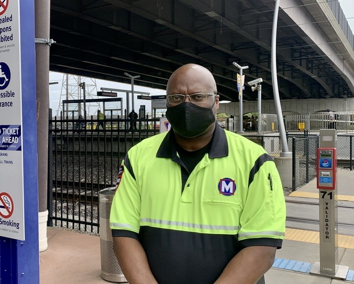 Public Safety Team Member Tony at the Grand MetroLink Station