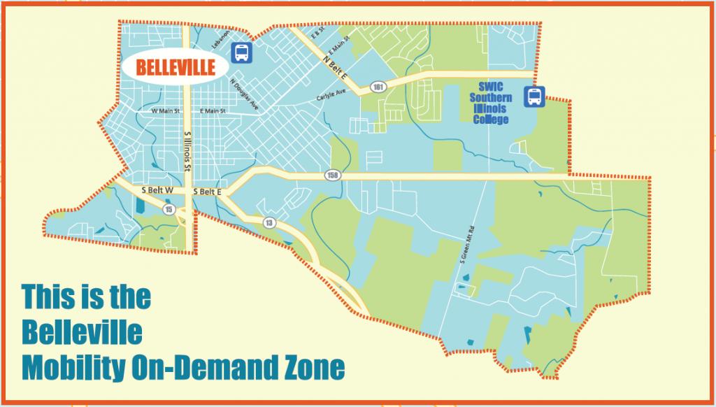 Map of Belleville Flyer service area