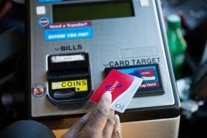 Using Gateway Card at Farebox