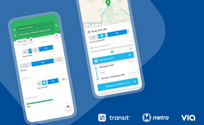 Via MetroSTL integrated with the Transit app