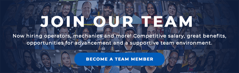 Join Our Team. Now hiring operators, mechanics and more! Competitive salary, great benefits, opportunities for advancement and a supportive team environment. Become a team member.