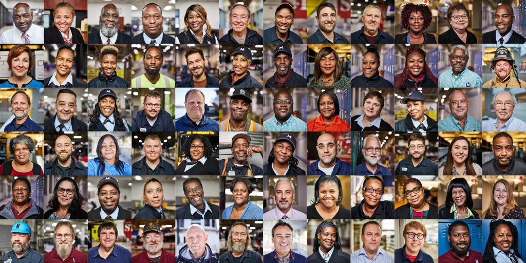 A collage of various Metro employees