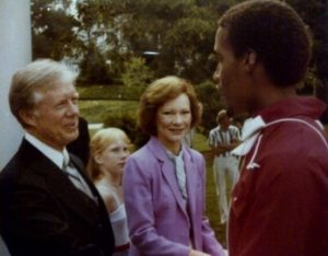 David Lee meets President and First Lady Carter