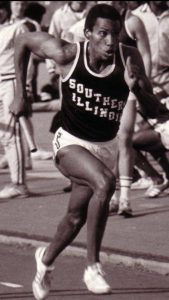 David Lee on the track