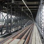 MetroLink tracks within Eads Bridge.